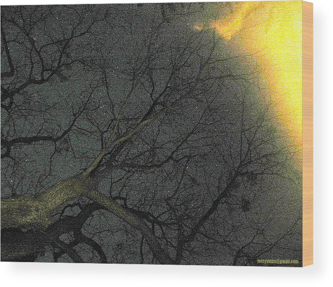 Night Wood Print featuring the photograph Night Sky by Gerard Yates