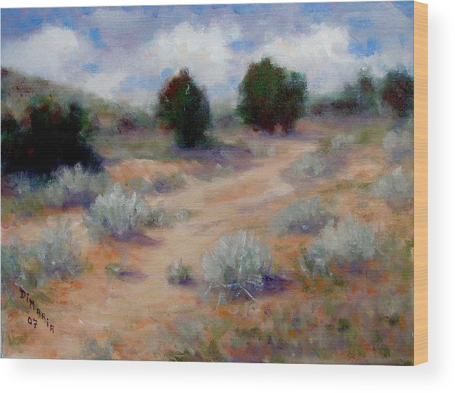 Realism Wood Print featuring the painting North Of Santa Fe by Donelli DiMaria