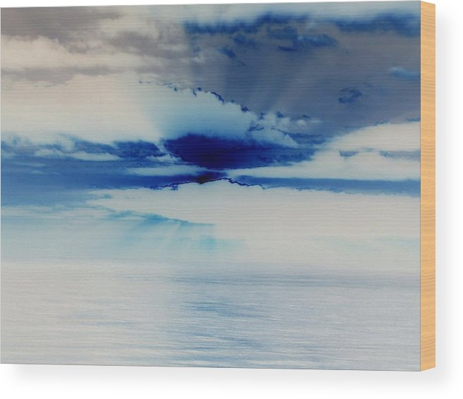 Seascapes Wood Print featuring the photograph Ocean Blue Monday by James Harper