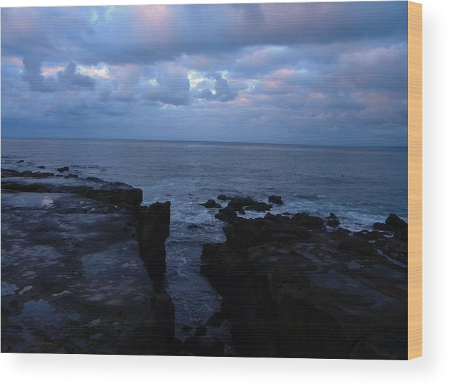 Landscape Wood Print featuring the photograph Ocean by Guillermo Mason