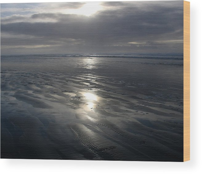 Ocean Wood Print featuring the photograph Ocean Shores by Ty Nichols