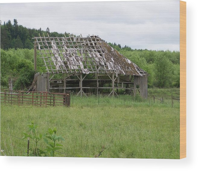 Barn Wood Print featuring the photograph Old Barn Bones Washington State by Laurie Kidd