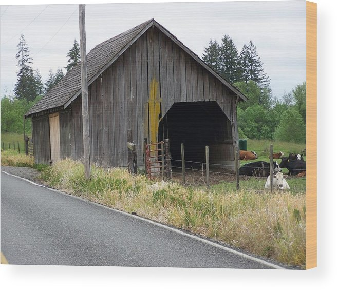 Barn Wood Print featuring the photograph Old Cow Barn Washington State by Laurie Kidd