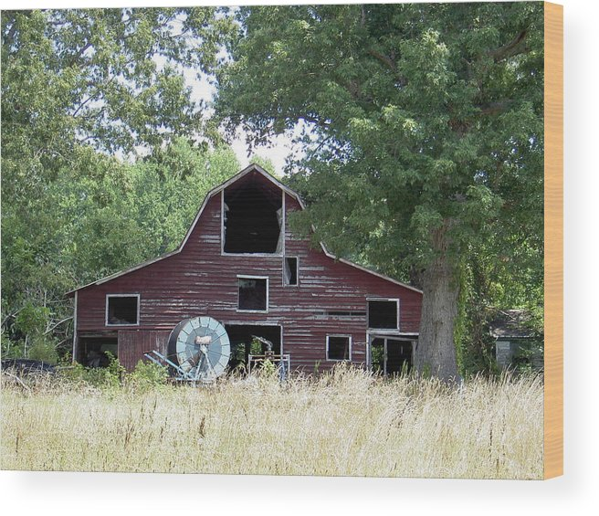 Barn Wood Print featuring the photograph Old Red by Robert Boyette