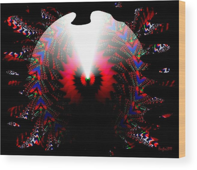 Cone Wood Print featuring the digital art Once In A Lifetime by Robert Orinski