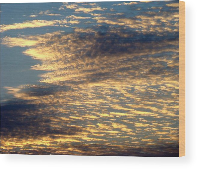 Sky Wood Print featuring the photograph Painted Sky Five by Ana Villaronga