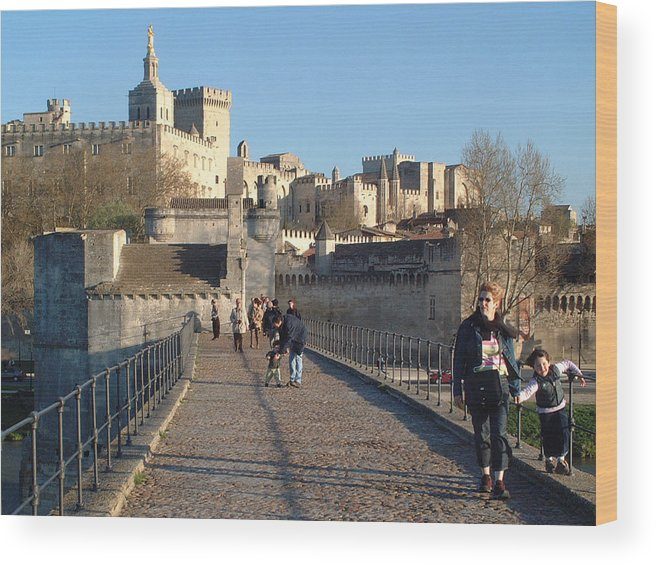 Pope Palace Wood Print featuring the photograph Papal Palace Avignon by Charles Ridgway