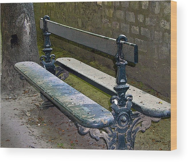Phenomenal Paris Park Bench Wood Print Ibusinesslaw Wood Chair Design Ideas Ibusinesslaworg