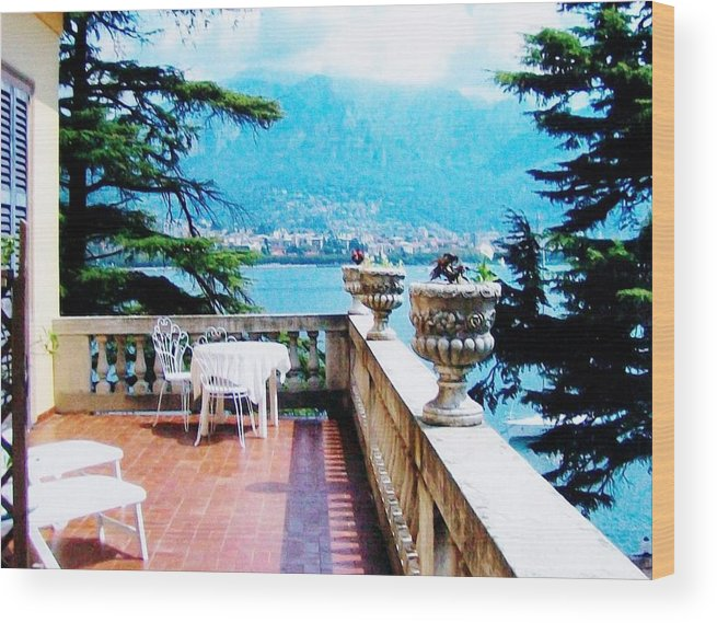 Photo Wood Print featuring the photograph Patio In Italy by Marsha Heiken