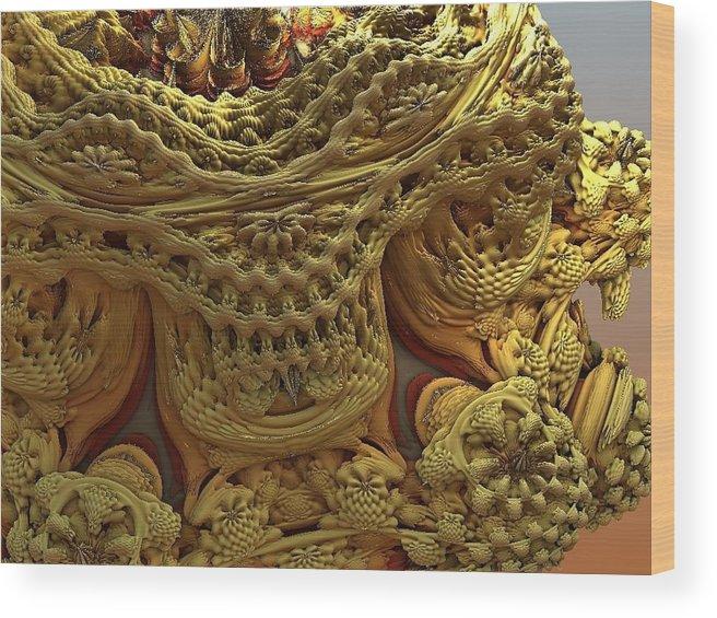 Abstract Art Wood Print featuring the digital art Peruvian Weave by John Welles