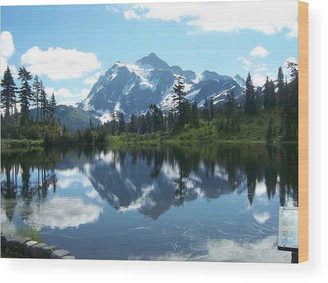 Nature Wood Print featuring the photograph Picture Lake by Anna Schnitzer