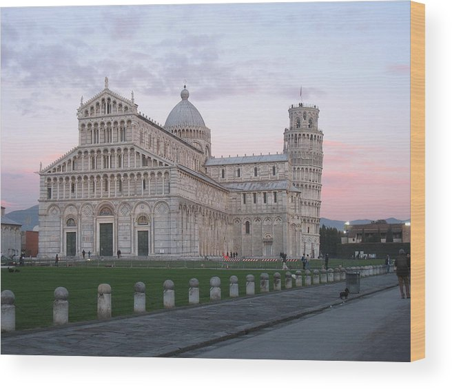 Pisa Wood Print featuring the photograph Pisa Sunset by Paul Shier