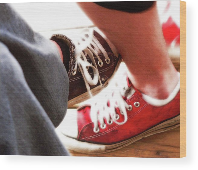Love Wood Print featuring the photograph Playing Footsie by Angela Wright