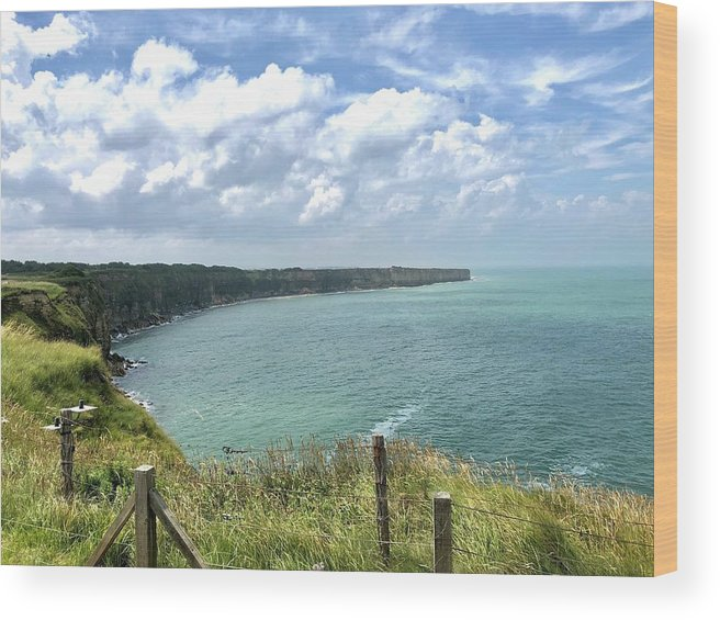 D-day Wood Print featuring the photograph Pointe Du Hoc by Charles Kraus