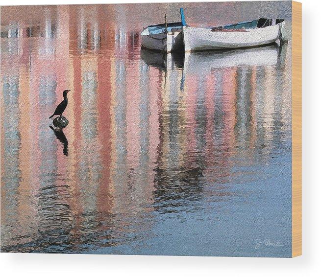 Reflections Wood Print featuring the photograph Portofino by Joe Bonita