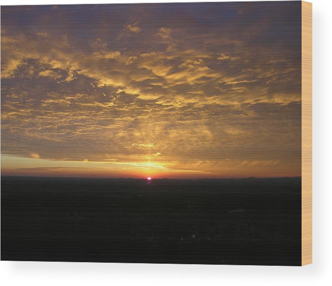 Sunset Wood Print featuring the photograph Powder Puff by John Geck