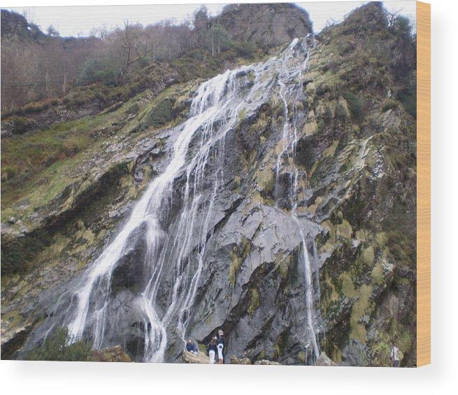 Powerscourt Waterfall Wicklow Ireland Wood Print featuring the photograph Powerscourt Waterfall In Ireland by Paul Jessop