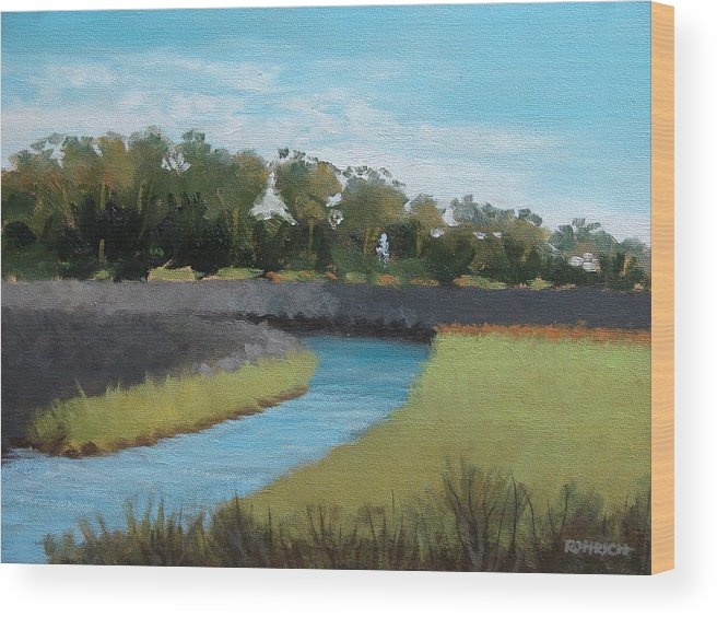 Landscape. Waterway Wood Print featuring the painting Princess Place Preserve by Robert Rohrich