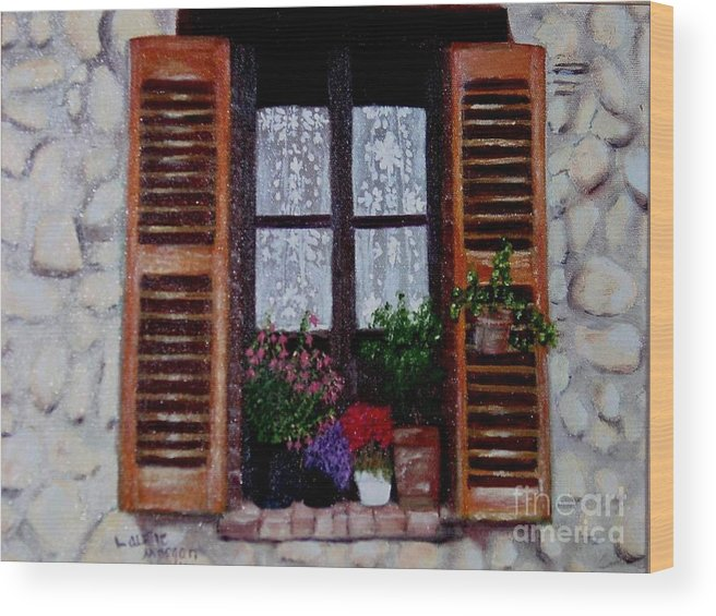 Provence Wood Print featuring the painting Provence Morning by Laurie Morgan