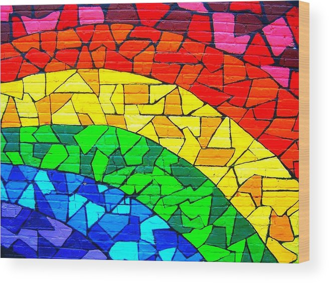 Rainbow Wood Print featuring the photograph Rainbow ... by Juergen Weiss