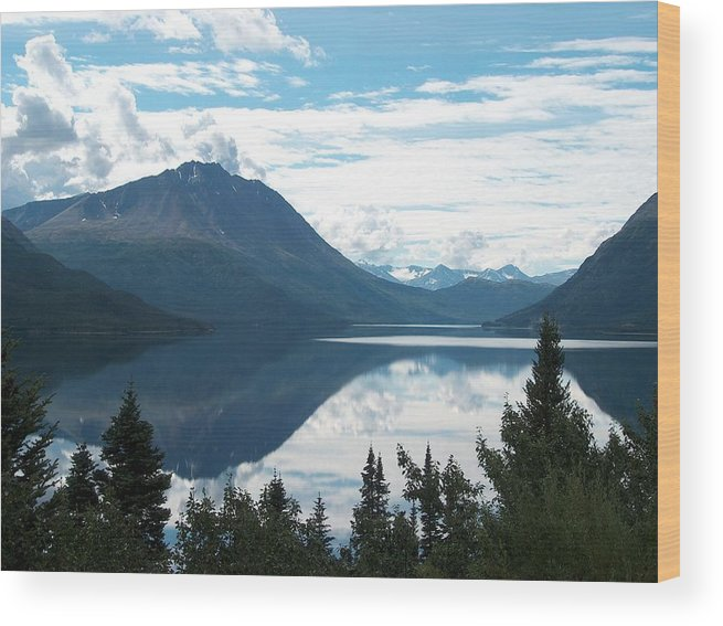 Tutchi Wood Print featuring the photograph Rare Moment On Tutchi Lake by Janet Hall