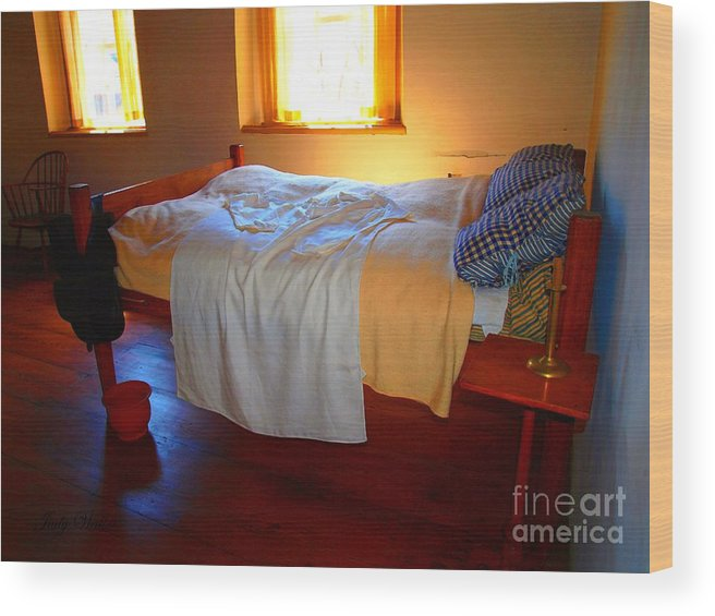 Bed Wood Print featuring the photograph Ready For Bed by Judy Waller