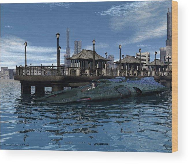 Digital Art Wood Print featuring the digital art Ready To Race by Michael Wimer