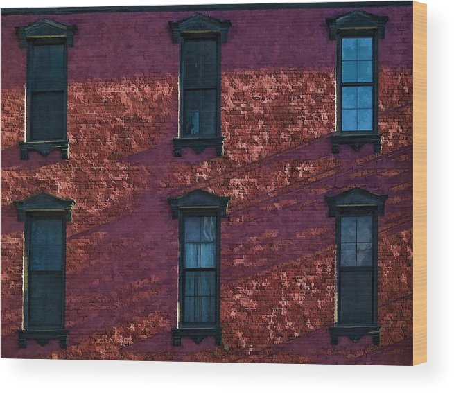 Architecture Wood Print featuring the photograph Red Brick Building Nyc by Robert Ullmann