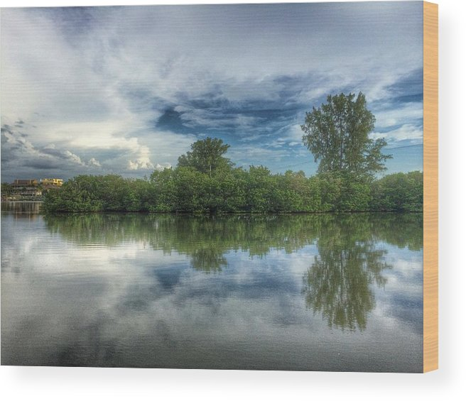 Water Wood Print featuring the photograph Reflection Bay by Charles J Pfohl