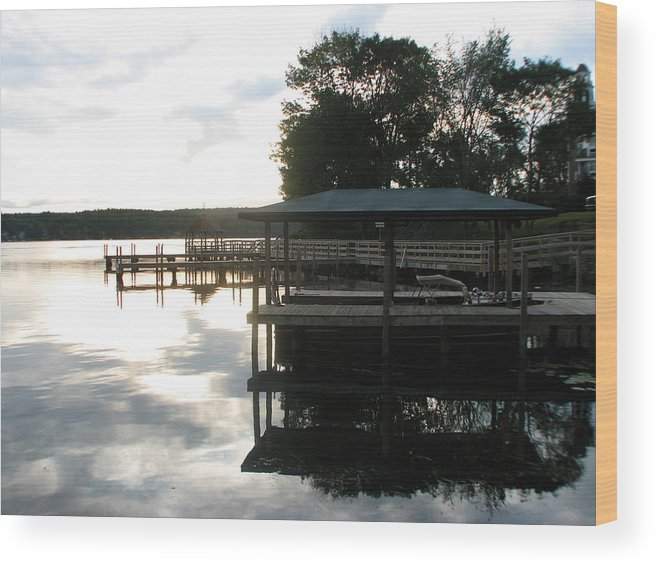 Meredith Nh Wood Print featuring the photograph Reflection by Michael Mooney
