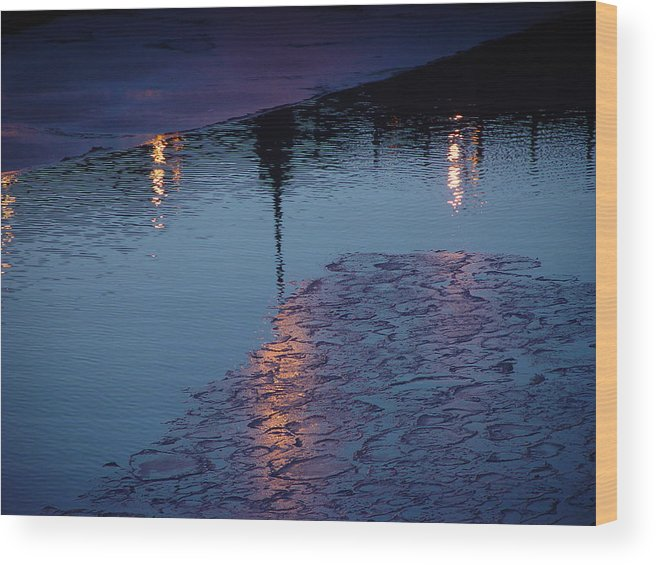 Water Wood Print featuring the photograph Reflections by Eric Workman