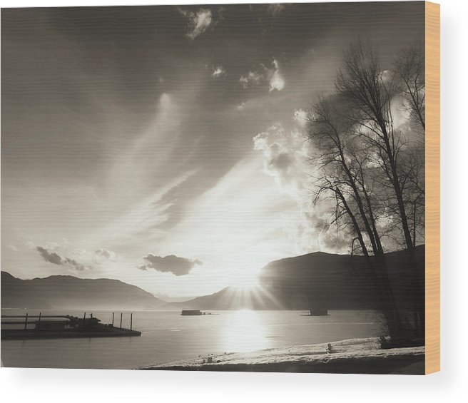 Sunset Wood Print featuring the photograph Remember by Scott Ballingall