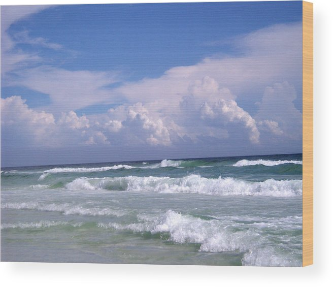 Ocean Wood Print featuring the photograph Restless by Nicole I Hamilton
