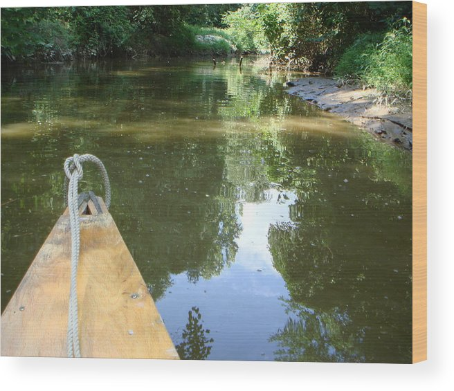 Canoe Wood Print featuring the photograph Right There With Me ... by PJ Cloud