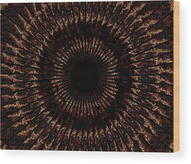 Fire Wood Print featuring the digital art Rings Of Fire by Charleen Treasures