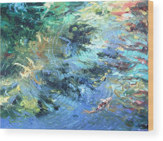 Marine Wood Print featuring the painting Reef by Rick Nederlof