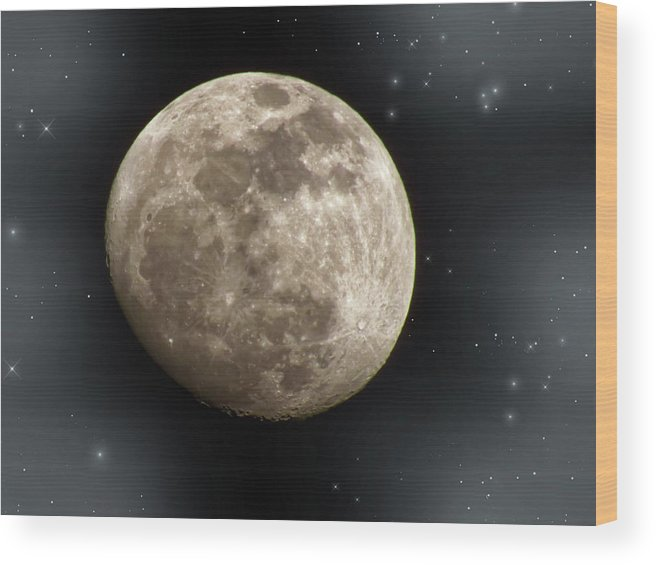 Moon Wood Print featuring the photograph Rise And Shine by Lois Booth
