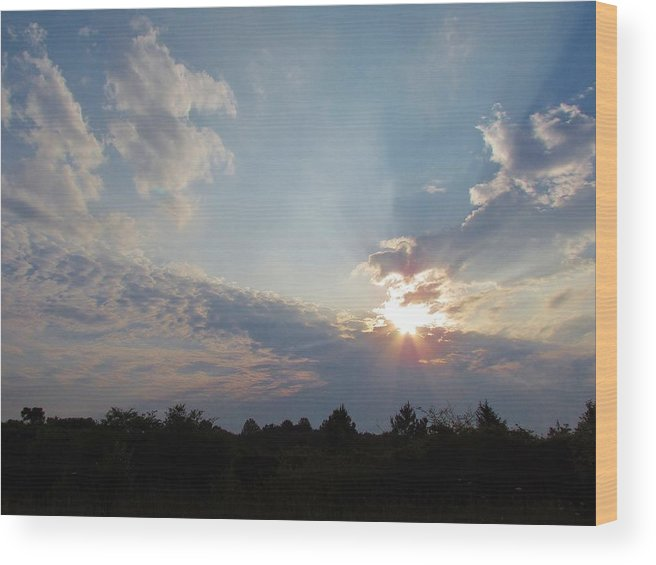 Sun Wood Print featuring the photograph Rise by Ginger Adams