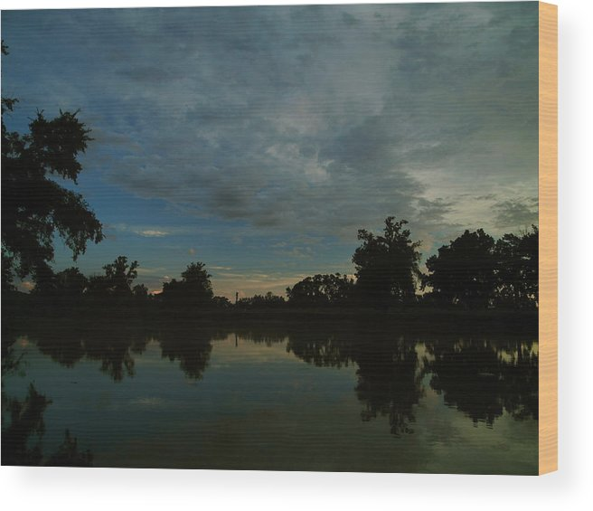 Spring River Miami Wood Print featuring the photograph River Sunrise 1 by Kareem Farooq