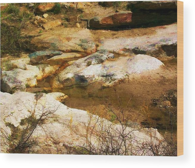 Rocks Wood Print featuring the photograph Rock Pattern by Kathleen Heese