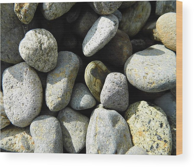 Rock Wood Print featuring the digital art Rocks by Palzattila