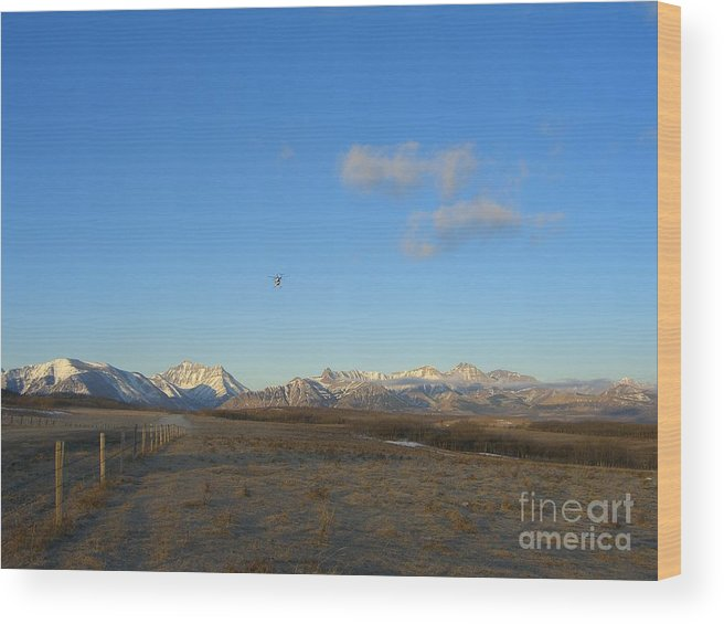 Rockies Wood Print featuring the photograph Rocky Mountain High by Jim Thomson