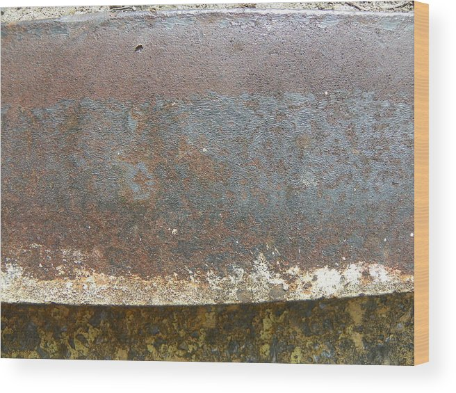 Rust Wood Print featuring the photograph Rust 13 by Bernie Smolnik