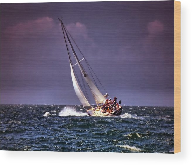 Sailing Wood Print featuring the photograph Sailing To Nantucket 001 by Bruce Gannon
