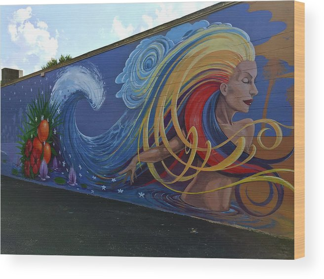 Mural Wood Print featuring the photograph Sea Goddess by Denise Mazzocco