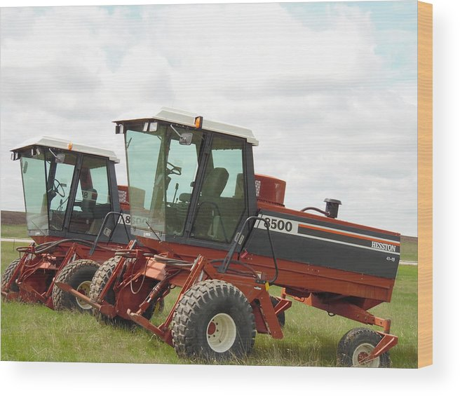 Tractor Wood Print featuring the photograph Seeing Double by Pamela Pursel