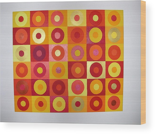 Orange Wood Print featuring the painting Seeing Red by Gay Dallek