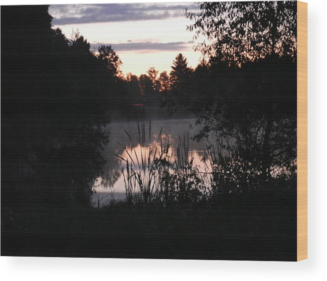 Sunrise Wood Print featuring the photograph Shadow Frame by Dennis Leatherman