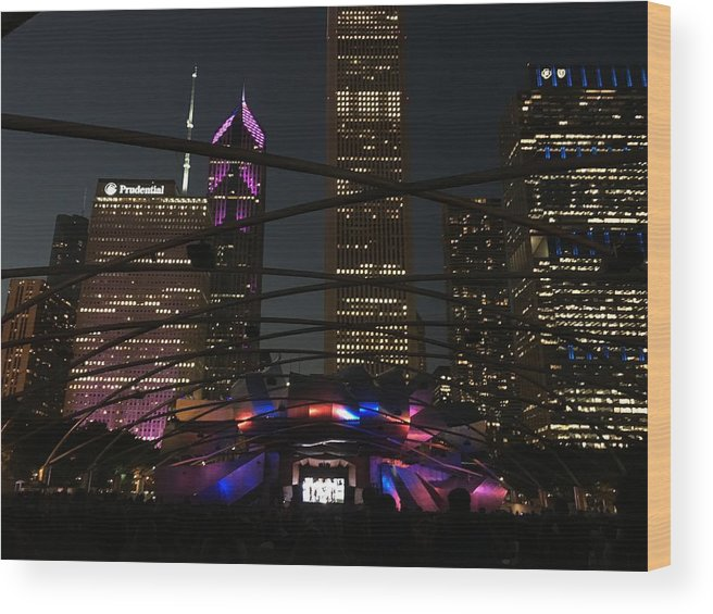 Cityscape Wood Print featuring the photograph Showtime by Margaret Fronimos
