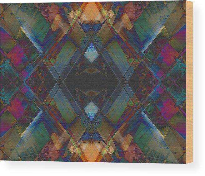 Symmetry Wood Print featuring the digital art Shuriken by Revantide Afterburner